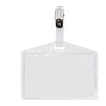 Portanome Pass 3 P - clip in metallo - senza cartoncino - 9,5x6 cm - Sei Rota - conf. 100 pezzi