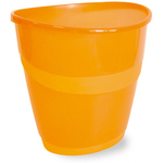 Cestino gettacarte Smile - ovale - 16 lt - arancio traslucido - Arda