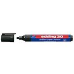Marcatore permanente 30 - punta tonda 1,50-3,00mm - nero - Edding