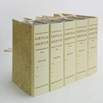 Faldone - legacci incollati - juta - 35x25 cm - dorso 6 cm - Brefiocart