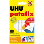 Blister 80 supporti gomma adesiva uhu patafix bianco