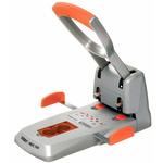 Perforatore HDC150 - massimo 150 fogli - 2 fori - passo 80 mm - grigio/arancio - Rapid