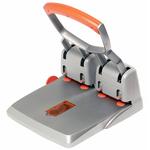 Perforatore HDC150 - massimo 150 fogli - 4 fori - passo 80 mm - grigio/arancio - Rapid