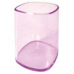 Portapenne a bicchiere - 6,5x6,5x9,5 cm - trasparente viola - Arda