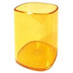 Portapenne a bicchiere - 6,5x6,5x9,5 cm - trasparente arancio - Arda