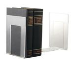 Coppia reggilibri Mr Acrylic - 14x9x13,5 cm - trasparente - Tecnostyl