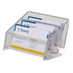 Portabiglietti multitasca Mr Acrylic da scrivania - 12x9x7 cm - trasparente - Tecnostyl
