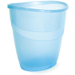 Cestino gettacarte Smile - ovale - 16 lt - blu traslucido - Arda