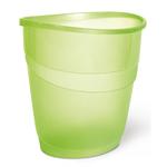 Cestino gettacarte Smile - ovale - 16 lt - verde traslucido - Arda