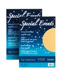 Carta metallizzata Special Events - A4 - 120gr - azzurro - Favini - conf. 20fg