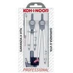 Compasso professional - diametro cerchio max 155mm - 5 pezzi - Koh.I.Noor