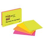 Blocco foglietti Post it® Super Sticky Meeting Notes - rosa e verde neon - 152 x 101mm - 45 fogli - Post it®