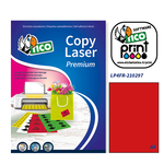 Etichetta adesiva LP4F Tico - rosso fluo - 210x297 mm - 1 etichetta per foglio - conf. 70 fogli A4