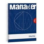 Blocco Spiral Manager 4 fori - microperforato - 23 x 29,7cm - 10mm - 80gr - 90 fogli - Favini