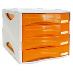 Cassettiera 4 cass. smile arancio trasp. arda
