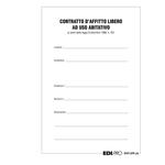 Fascicolo contratto di locazione libero - 29,7 x 21cm - Edipro