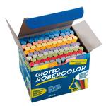 Gessetti Robercolor - lunghezza 80mm con diametro 10mm - colorati - Giotto - Scatola 100 gessetti tondi