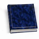 Album foto 30x33cm 50fg in cartoncino c/velina copertina vinile blu lebez