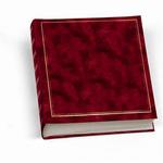 Album portafoto in vinile - rosso - 30 x 33cm - 50fg - fogli in cartoncino con velina - Lebez
