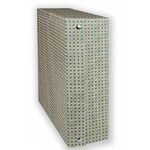 Scatola archivio in legno - 38x27 cm - dorso 12 cm - grigio - Brefiocart