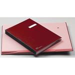Libro firma - 18 intercalari - con porta etichette - 24x34 cm - rosso - Fraschini