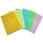 Cartelline a L con finestra Sintex - cartoncino 115 g - mix 5 colori - Blasetti - conf. 20 pezzi