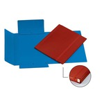 Cartella con elastico - fibrone - 3 lembi - 27x37 cm - blu - Cartotecnica del Garda