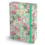 Cartella progetti Nature Flowers - 26x34cm - dorso 7cm - con elastico - Pigna