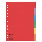 Separatore Economy - 6 tasti - cartoncino colorato 160 gr - A4 - multicolore - Esselte