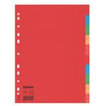 Separatore Economy - 10 tasti - cartoncino colorato 160 gr - A4 - multicolore - Esselte