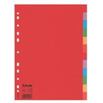 Separatore economy 12tacche A4 cartoncino colorato 160gr esselte
