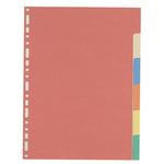 Separatore - 6 tacche - cartoncino colorato 240 gr - 21x29,7 cm - multicolore - Favorit
