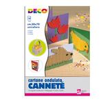 Cartoncino ondulato Cannetè 2206 - 50x70cm - bianco - CWR - Conf.10 pezzi