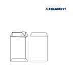 Busta a sacco bianca - lembo non gommato - strip adesivo - 365x440 mm - 100 gr - Blasetti - conf. 500 pezzi