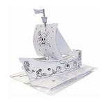 Modello Nave Pirata - 48x18x50cm - in cartone - Joypac