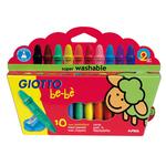Pastelli cera super - colori assortiti - Giotto bebe - Conf. 10 colori