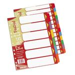 Separatore Festival - 12 tasti neutri colorati - cartoncino 140 gr - A4 - multicolore - King Mec