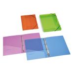Cartella con elastici - PPL - dorso 3 cm - 35,5x26,5 cm - colori assortiti - Lebez