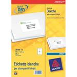 Etichette bianche QuickDry per indirizzi