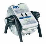 Portabiglietti da visita rotativo Visifix® Flip - 200 buste - 25 schede alfabetiche A/Z - 21,5x12x18,5 cm - Durable