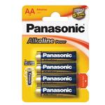 Pile Stilo AA - 1,5V - alcalina - Panasonic - blister 4 pezzi