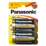 Pile Torcia D - 1,5V - alcalina - Panasonic - blister 2 pezzi