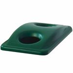 Coperchio slim jim verde con fori per bottiglie rubbermaid