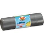 Sacchi per immondizia - 70x110 cm - 120 L - 16 micron - grigio - Logex Professional - rotolo da 10 sacchetti