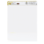 Blocco da parete Super Sticky - 30 fogli in carta riciclata - 63,5x77,5 cm - bianco - Post it®