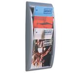 Espositore da parete Quick Fit System - 4 tasche A4 verticali - grigio - Paperflow
