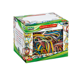 Elastici - gomma - misura e colori assortiti - Lebez - scatola da 500 gr