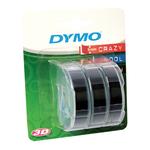 Nastro a rilievo - 9 mm x 3 mt - nero - Dymo - blister 3 nastri