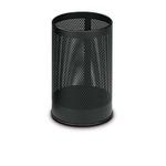 Cestino tondo - metallo forato - 15 litri - nero - Stilcasa