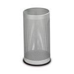 Portaombrelli tondo - metallo forato - 20 litri - diametro 24 cm - altezza 48cm - grigio - StilCasa